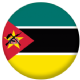 Mozambique Country Flag 58mm Mirror Keyring